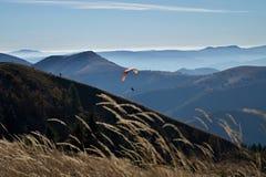 Paragliding mountain Royalty Free Stock Photos