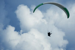Paragliding on the mountain Sarangkot in Pokhara Stock Photography