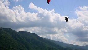 Paragliding nad Pokhara, Nepal zbiory wideo