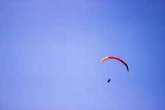 Paragliding in Nidri Harbor Stock Images
