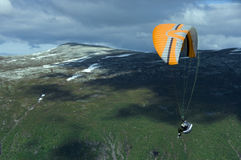 Paragliding in Norway Royalty Free Stock Image