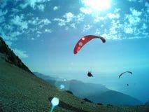 Paragliding Oludeniz imagenes de archivo
