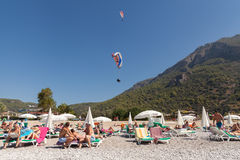 Paragliding  in Oludeniz Royalty Free Stock Photos