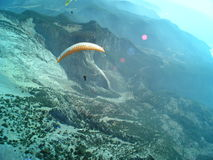 Paragliding Oludeniz stock images