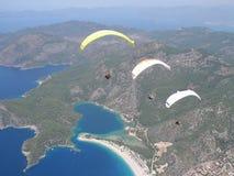 Paragliding Oludeniz stock photos