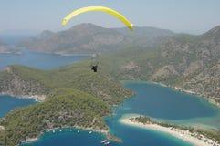 Paragliding Oludeniz royalty free stock image