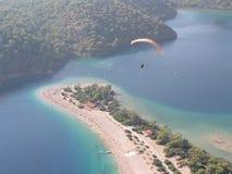Paragliding Oludeniz. Paragliding in oludeniz,turkey outdoor royalty free stock photos