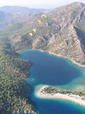 Paragliding Oludeniz royalty free stock photo