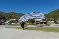 Paragliding in Oludeniz, Turkey Royalty Free Stock Photography