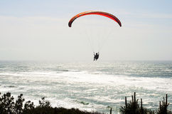 Paragliding over the Atlantic Ocean Royalty Free Stock Photography