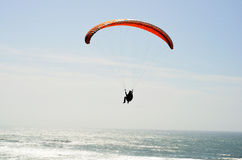Paragliding over the Atlantic Ocean Stock Image