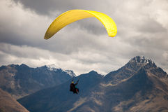 Paragliding. Over the city of Bernal, New Zealand Stock Images