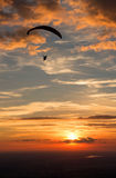 Paragliding. Over the city (Salzburg royalty free stock images