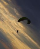Paragliding over Lake Erie Royalty Free Stock Image