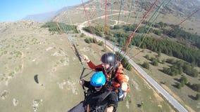 Paragliding over mountain Royalty Free Stock Photos