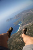 Paragliding Over Oludeniz Stock Images