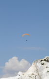 Paragliding over over mountain Stock Image