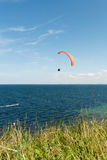 Paragliding over the sea Royalty Free Stock Image