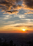 Paragliding. Over the sity Salzburg stock image