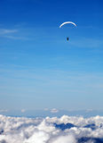 Paragliding over the Swiss Alps Royalty Free Stock Photography