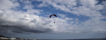 Paragliding over Tenerife Royalty Free Stock Photos