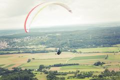 paragliding paraglider Royalty Free Stock Image