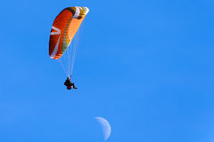 Paragliding at Poo Poo Point in Mountain Tiger, Issaquah, Washington, US Royalty Free Stock Photos