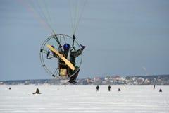 Paragliding psto fotografia de stock