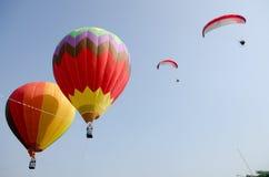 Paragliding at putrajaya Stock Photos