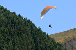 Paragliding in Queenstown New Zealand Royalty Free Stock Images