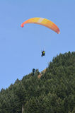 Paragliding in Queenstown New Zealand Stock Images