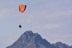 Paragliding in Queenstown New Zealand Stock Photo