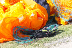 Paragliding ropes Royalty Free Stock Images