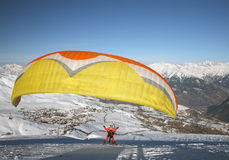 Paragliding sail Royalty Free Stock Photos