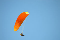 Paragliding In Santa Pola - Parachute Dangerous Sport Stock Photo