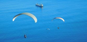 Paragliding from Signal Hill, Cape Town Stock Image