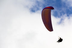 Paragliding in the sky Royalty Free Stock Photos