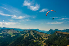 Paragliding on the sky Royalty Free Stock Image