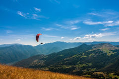 Paragliding on the sky Stock Photos