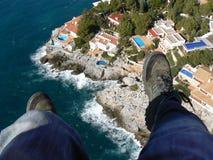 Paragliding Spanien fotografering för bildbyråer