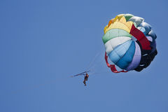 Paragliding sport during vacation Royalty Free Stock Image