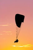 During paragliding at sunset Stock Image