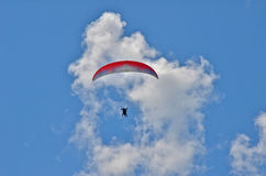 Paragliding Tandem Flight Royalty Free Stock Image