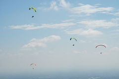 Paragliding team Royalty Free Stock Photos