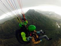 Paragliding Tenerife Obraz Royalty Free