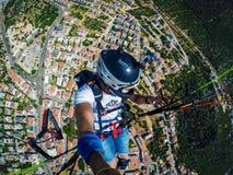 paragliding Turcja, Kasa Fotografia Stock