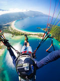 paragliding Turcja, Oludeniz Zdjęcie Stock