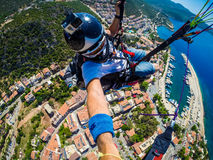 Paragliding. Turkey, Kas Royalty Free Stock Images