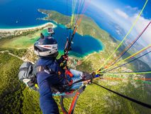 Paragliding. Turkey, Oludeniz Royalty Free Stock Photography