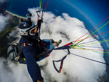 Paragliding. Turkey, Oludeniz Royalty Free Stock Photo
